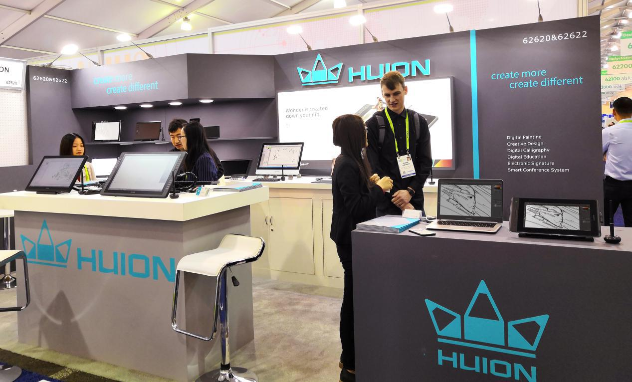 To embrace the new year, Huion exhibits Kamvas Pro pen display at CES Las Vegas 2019!